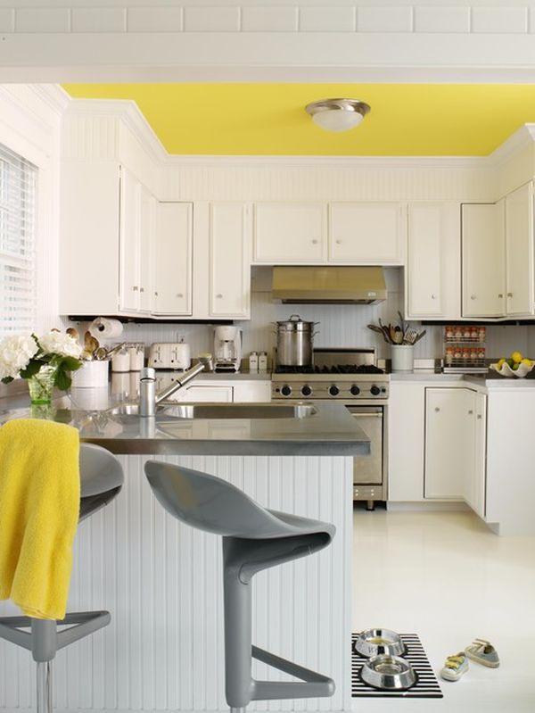 Dekorera gula och gråa kök: Idéer & Inspirati