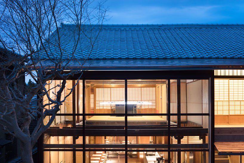 blå flaska kaffe kyoto är inrymt i en minimalistisk machiya.