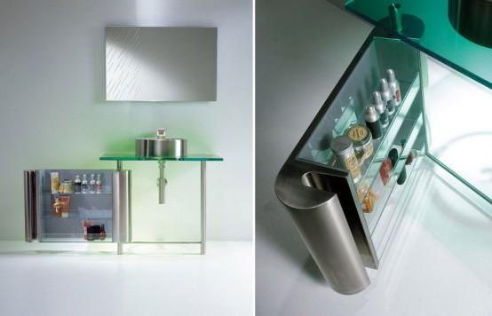 Minimalistisk tvättställ för litet badrum - regn av Axolo - DigsDi