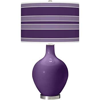 Modern bordslampa Acai lila glas OVO Bold Stripe Gicleetryck.