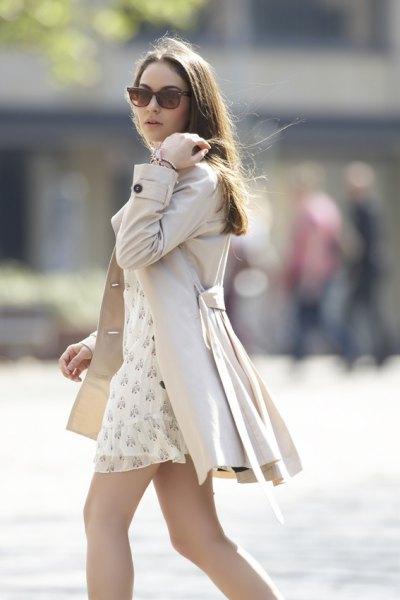 blekrosa slips midja miniklänning klänning