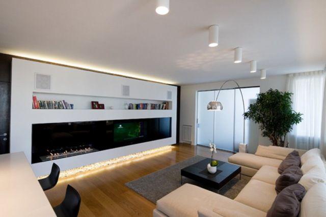 Korrekt vardagsrum belysning idéer lägenhet för att överdriva.