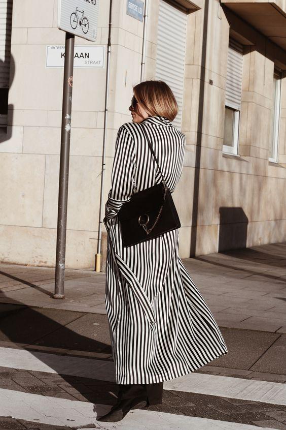 svartvit randig tailcoat