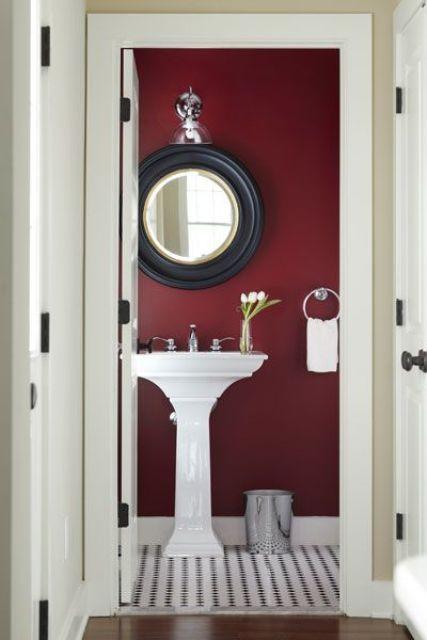 22 idéer att använda Marsala för badrumsinredning |  DigsDigs |  Badrum.