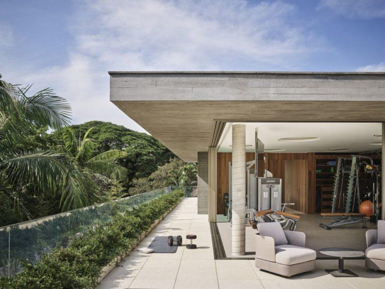 Modernt hus med en grov betongfasad - DigsDi
