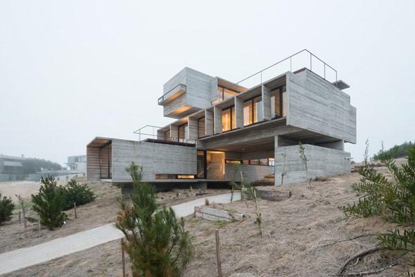 Argentinskt betonghus av arkitekt Luciano Kr