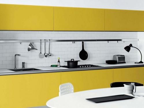 Kallvita, gula, svarta köksdesigner för Minimalist S… |  Flic