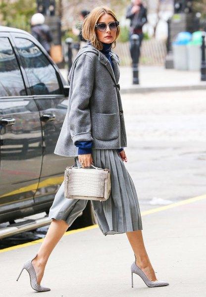 grå culottes med ullrock