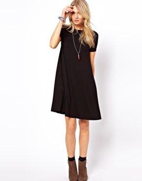 svart klänning kamel mocka ankel stövlar