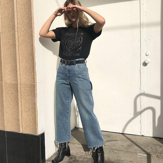 Snickare byxa tryckt t-shirt