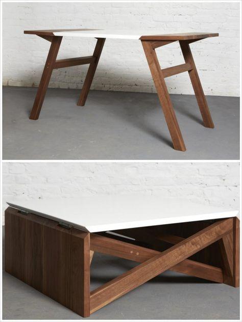 Duffy London MK1 Transforming Coffee Table Wood    DIY matbord.