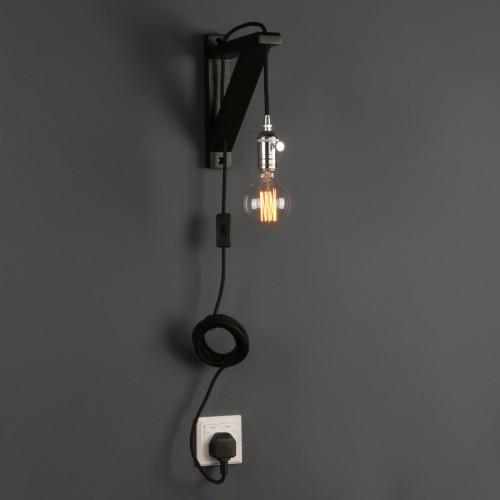 Retro industriell minimalistisk bar glödlampa i vägglampa.