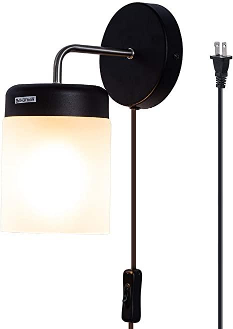 Amazon.com: TeHenoo Minimalist Vägglampa Frostglas.