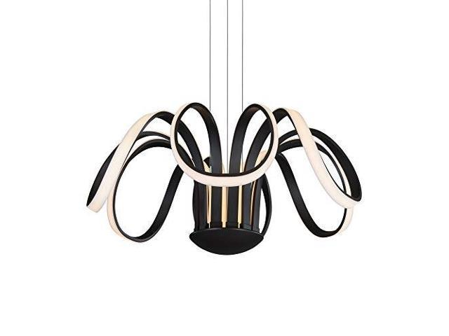 "30 ""LED-ljuskrona, justerbart hängande ljus, modern blomsterpedal."