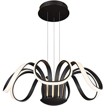 "Amazon.com: 30 ""LED-ljuskrona, justerbart hängande ljus, modernt."