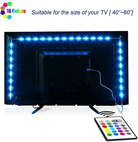 Amazon.com: TV-LED-bakgrundsbelysning, Maylit Pre-Cut 6.56ft LED Strip.