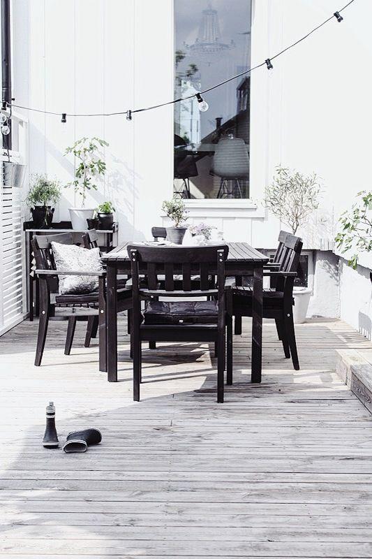 30 eleganta svartvita utomhusutrymmen - DigsDi