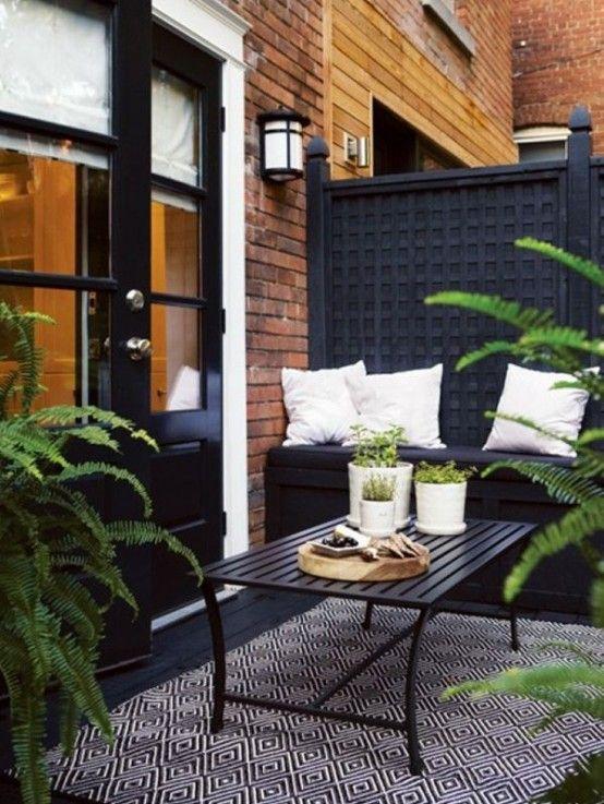 30 eleganta svartvita utomhusytor    DigsDigs    Liten utomhus.