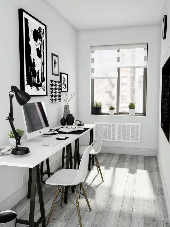 25 svartvita hemmakontorsdesigner    Hemmakontorsdesign.