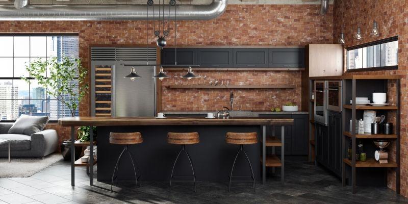 Köksberättelser: En hög upplevelse av industriell stil |  Loftinredning.