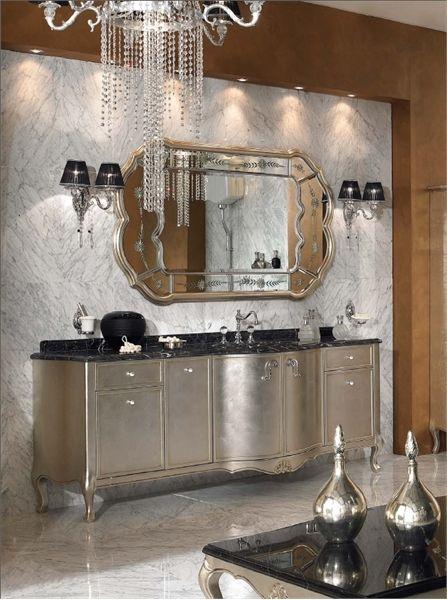 Lyxiga klassiska badrumsmöbler från Lineatre    Klassiskt badrum.