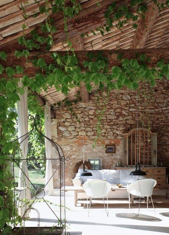 34 Raffinerade Provence-inspirerade terrassdekorationer |  Min franska .