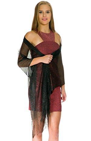 svart sheer sjal grå halter miniklänning