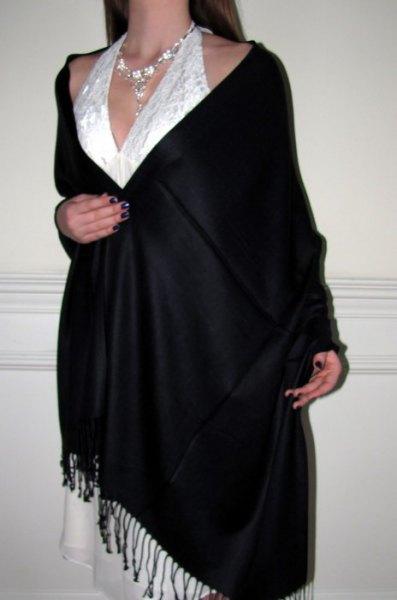 vit spets brudtärna klänning