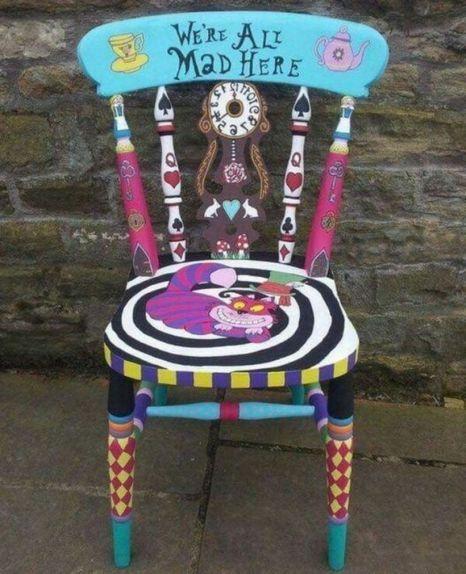 42 Enastående DIY målade stolar designar idéer att prova    Målad.