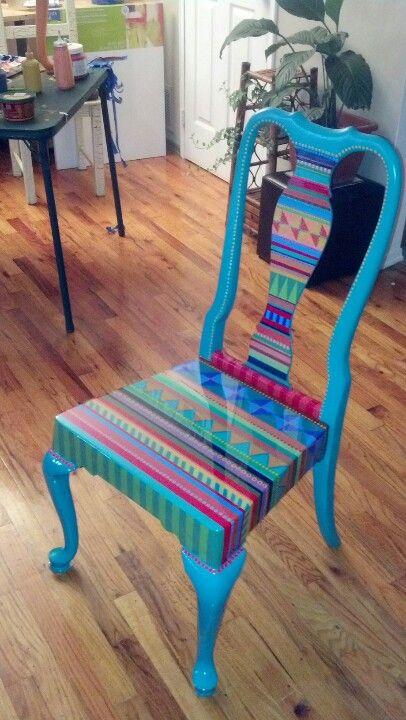 40 Vibrerande DIY målad stol Design Ide