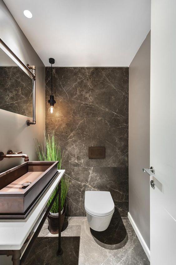 65 inspirerande idéer för att designa en gästtoalett |  Toalettplattor.