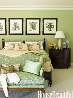 17 drömmande gröna sovrum    Mintgrönt sovrum, sovrumgrönt.