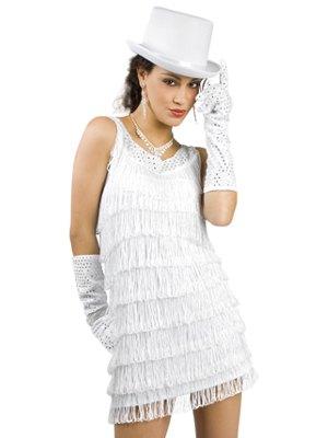 långa handskar och vit filthatt