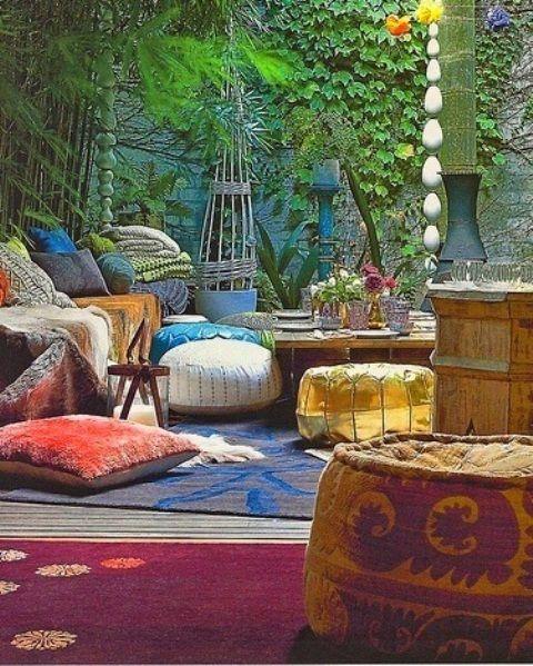 37 Underbara Bohemian Patio Designs: 37 Beautiful Bohemian Patio.