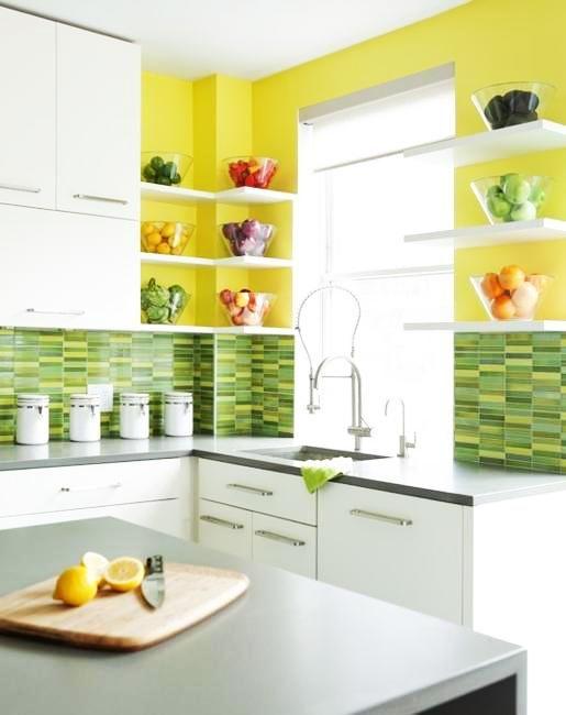 20 moderna kök inredda i gula och gröna färger    Grön.