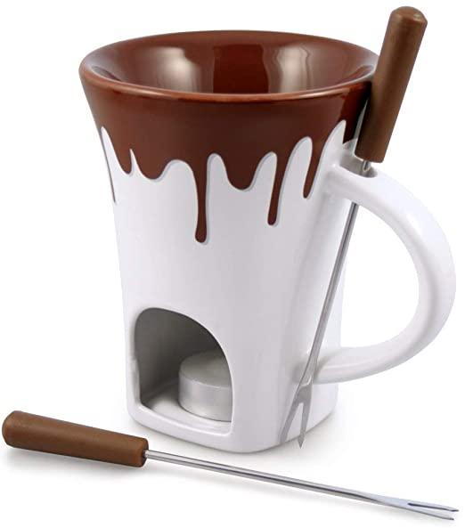 Amazon.com: Swissmar 4-bitars nostalgi chokladfondue mugguppsättning.
