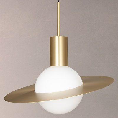 1950-tals CVL Saturn mässing taklampa    Taklampa i mässing.