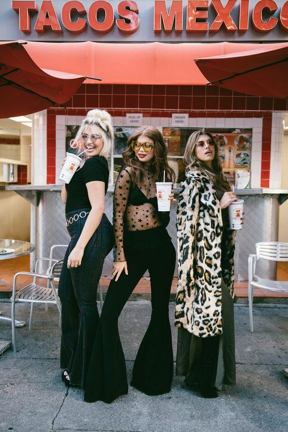 Flare leggings tre tjejer