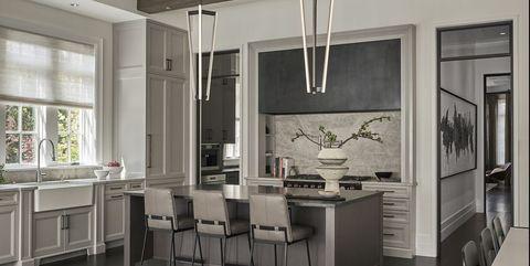 32 bästa gråköksidéer - foton på modernt grått kök.