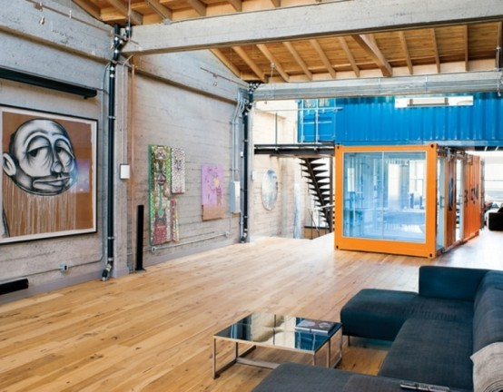 Minimalistisk och industriell lägenhet i en garret - DigsDi