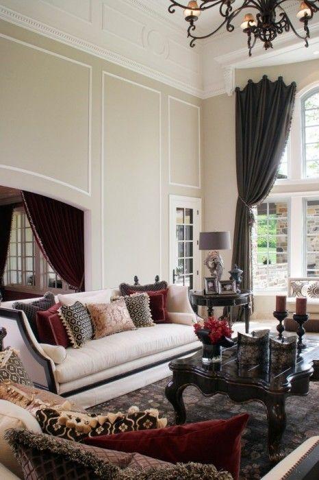 26 idéer för att framhäva ditt vardagsrum med Marsala    Vit.