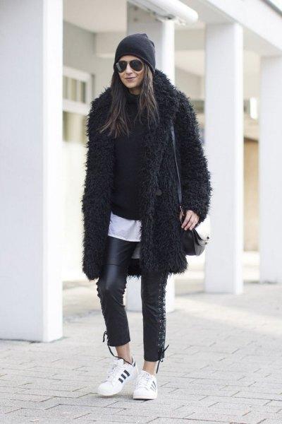 svart nallejacka helt svart outfit