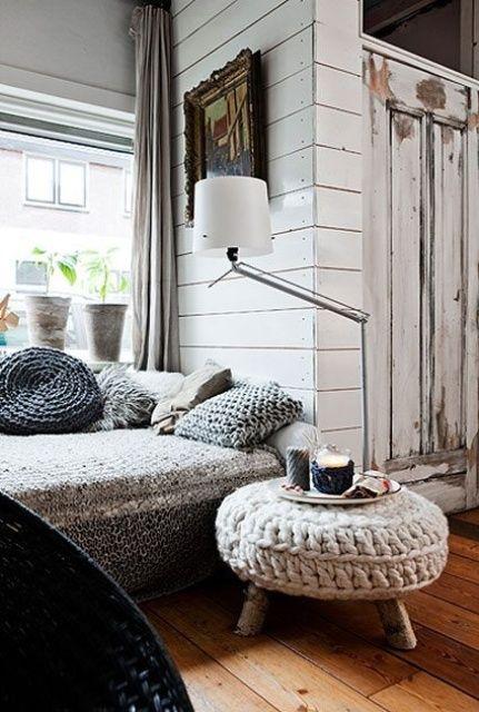 38 Mjuka och mysiga stickade möbler för höst och vinter.