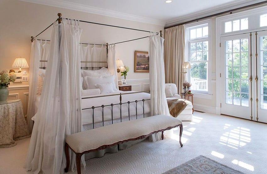 Idéer för sovrum i parisisk stil (möbler och dekor) - design-id