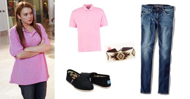 rosa överdimensionerad polotröja med blå jeans
