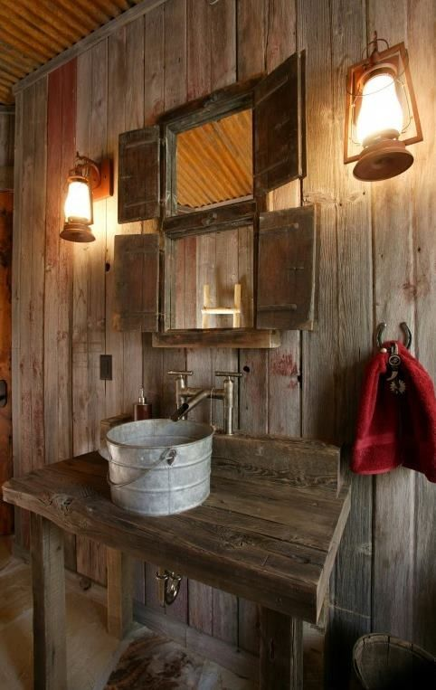 Bara en enkel blogg: Rustik badrumsidé