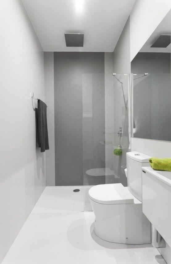 45 Snygga och lakoniska minimalistiska inredningsidéer för badrum    Схема.