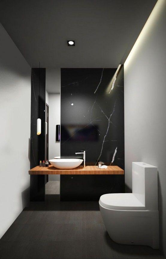 45 Snygga och lakoniska minimalistiska badrumsdesignidéer.