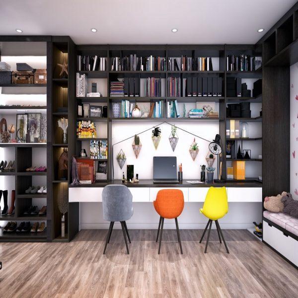 Fantastiska hemmakontor Moderna designidéer för litet spa