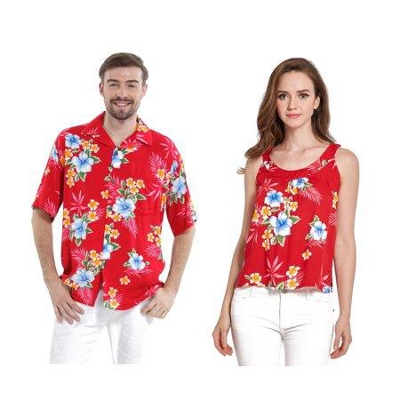 röd aloha linne med vita skinny jeans